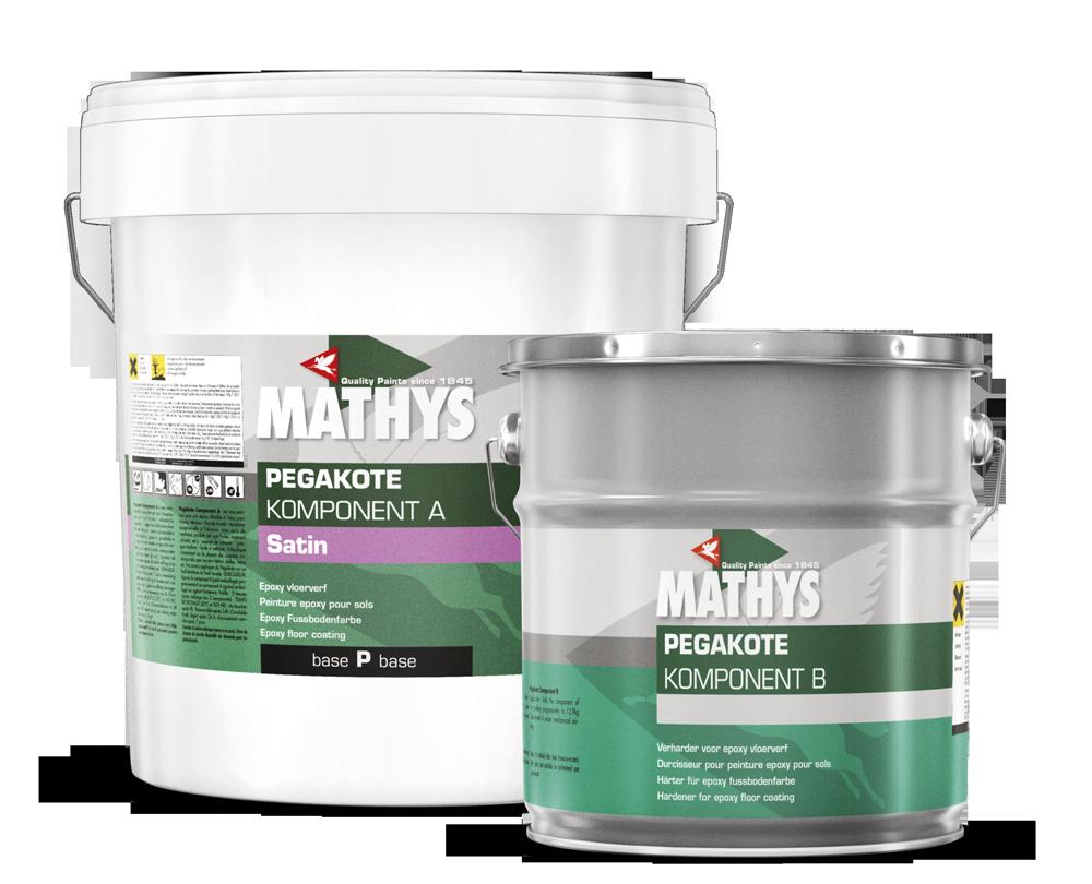 Fußbodenfarbe ~ Mathys® pegakote® 1 beige 4 kg 2 k epoxidharz fussbodenfarbe